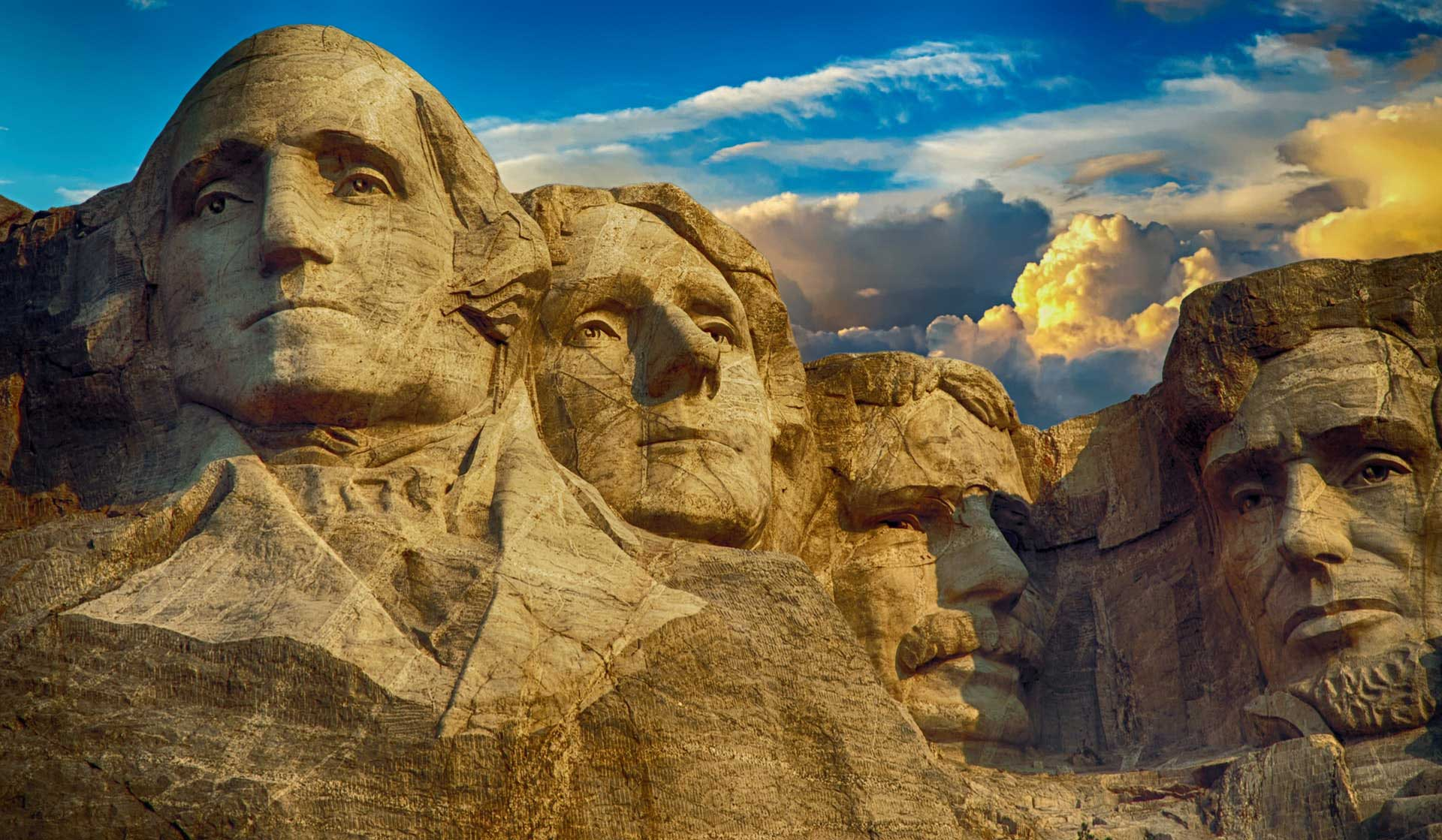 The stone faces of Mount Rushmore