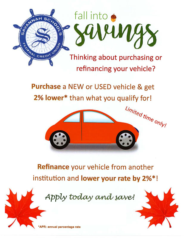 Contact the Credit Union to apply for our auto loan special!
